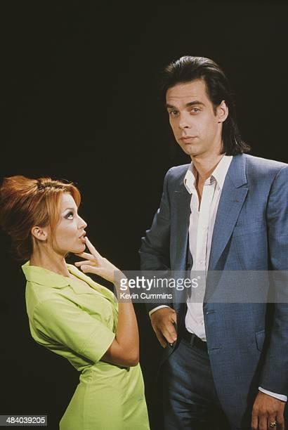 Australian singers Nick Cave and Kylie Minogue circa 1996