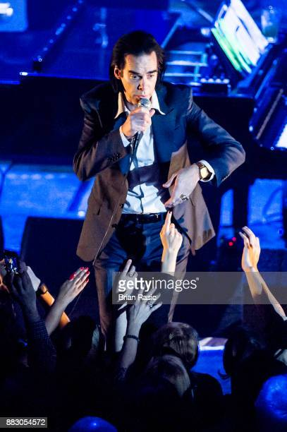 Australian singersongwriter and musician Nick Cave performing at Hammersmith Apollo London UK 2nd May 2015