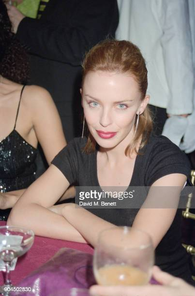 Australian singersongwriter Kylie Minogue attends the UK Premiere of 'Titanic' at the Empire in Leicester Square London UK 18th November 1997