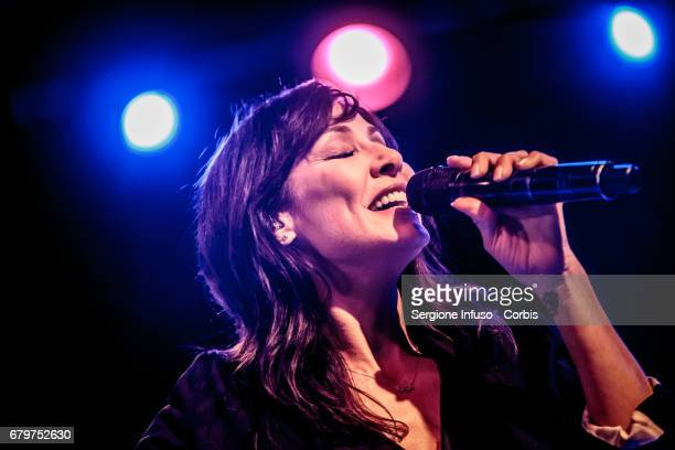 Australian singersongwriter model and actress Natalie Imbruglia performs on stage at Fabrique Club on May 6 2017 in Milan Italy