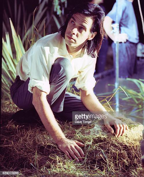 Australian singersongwriter Nick Cave making a video for his duet with Kylie Minogue 'Where the Wild Roses Grow' from the album 'Murder Ballads'...