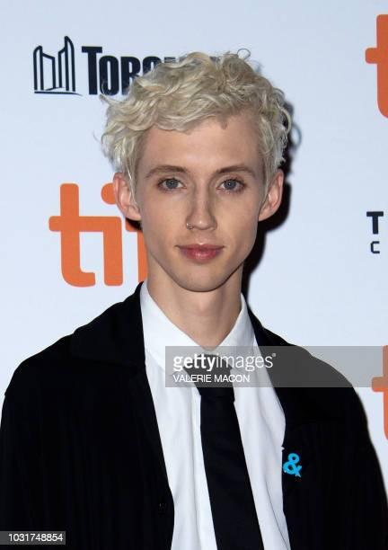 Australian singer/songwriter Troye Sivan attends the premiere of Boy Erased during the Toronto International Film Festival on September 11 in Toronto...