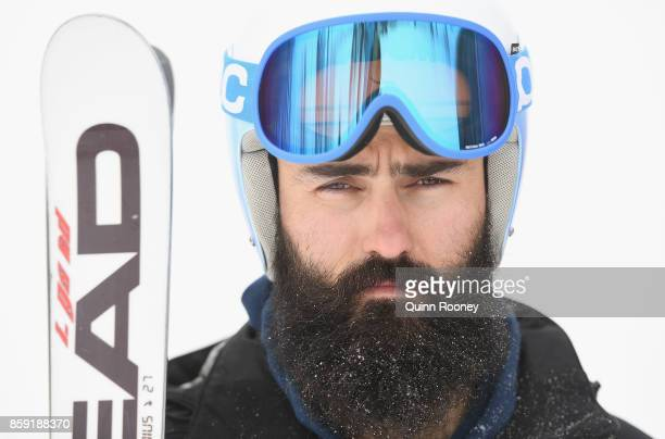 Australian ski cross Winter Olympic athlete Anton Grimus poses during a portrait session on August 24 2017 at Mount Hotham Australia