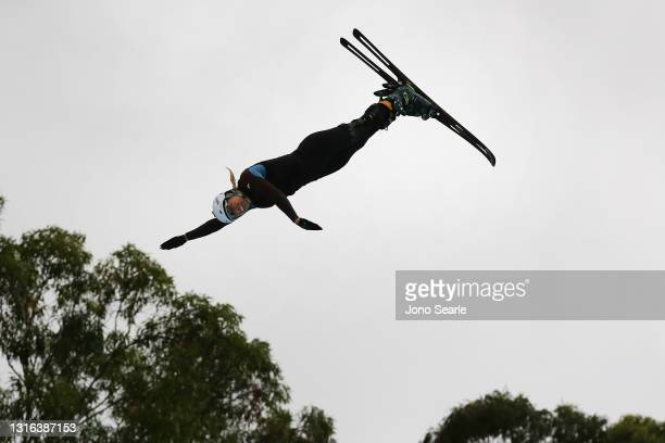Australian skier Dani Scott performs during the official opening of the Sleeman Sports Complex Opens Olympic Winter Sports Training Facility on May...