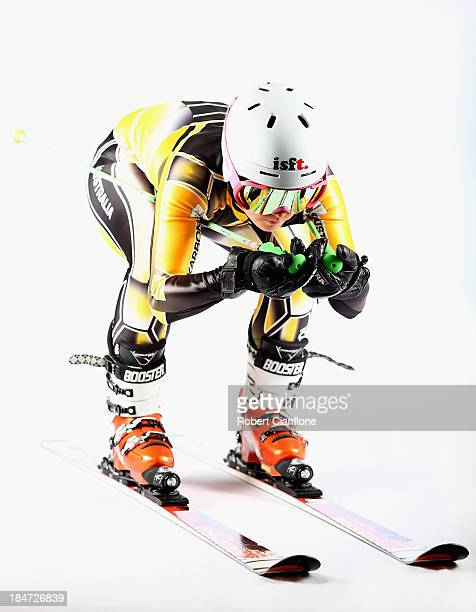 Australian slalom and giant slalom athlete Emily Bamford poses during a portrait session on October 16 2013 in Melbourne Australia