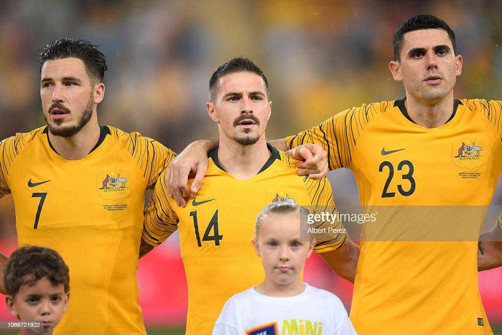 Australia v South Korea : News Photo