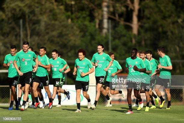 Australian Socceroos training session at Lion FC Stadium on November 13 2018 in Brisbane Australia