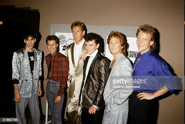 Australian soft rock group Air Supply led by Russell Hitchcock and Englishborn Graham Russell pose for a photograph backstage at the 'America Picks...