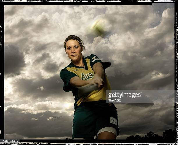 Australian softballer Kate Quigley 18 August 2006 THE AGE SPORT Picture by JOHN DONEGAN