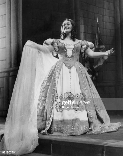 Australian soprano Joan Sutherland as Elvira during rehearsals for Bellini's opera 'I Puritani' at the Royal Opera House in Covent Garden London 17th...