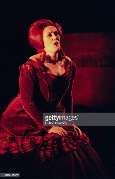 Australian soprano Joan Sutherland as Lucia di Lammermoor the title role that made her famous in 1959