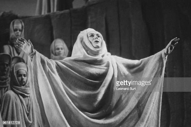 Australian soprano Joan Sutherland in a rehearsal for Bellini's opera 'Norma' at the Royal Opera House in Covent Garden London 28th November 1967...