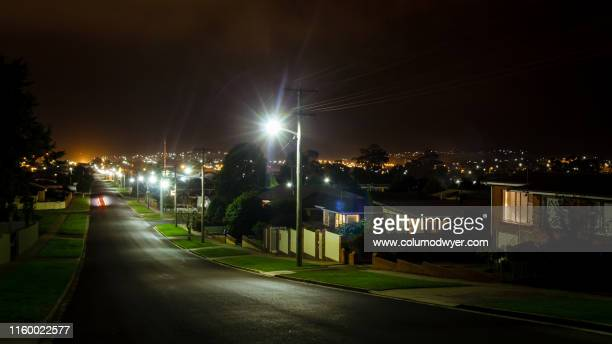 australian suburbs at night - suburban stock pictures, royalty-free photos & images