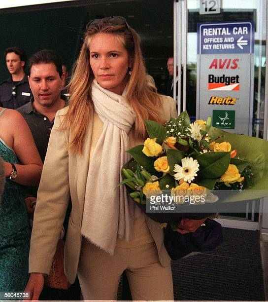 Australian super model Elle MacPherson leaves the Auckland International Airport after arriving in New Zealand for several days on a promotional visit