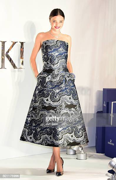 Australian supermodel Miranda Kerr attends the lighting ceremony at Sony Ginza building on December 13 2015 in Tokyo Japan