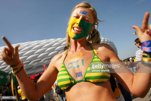 Australian supporter prior to the group F match of the 2006 FIFA World Cup between Brazil and Australia in Munich Germany Sunday 18 June 2006...