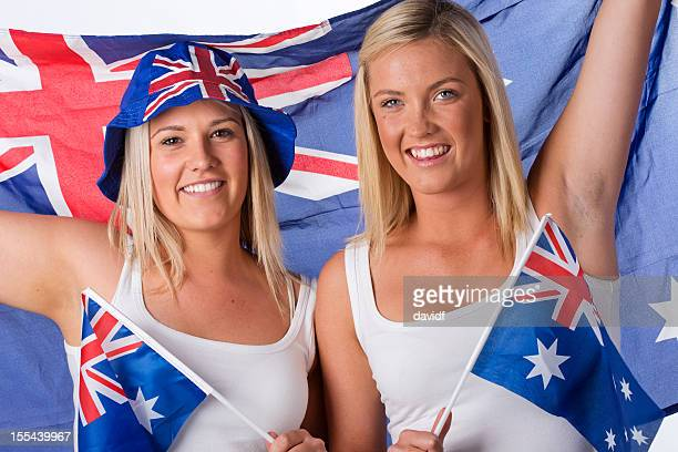 australian supporters - australia day stock pictures, royalty-free photos & images