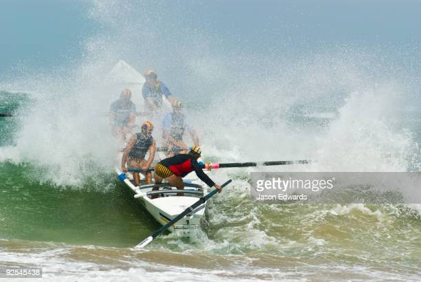 Australian Surfboat Open Titles, Fishermen's Bay, Torquay, Victoria, Australia.