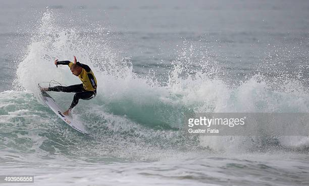 Australian surfer Mick Fanning in action during round 1 of the Moche Rip Curl Pro Portugal at Supertubos on October 23 2015 in Peniche Portugal