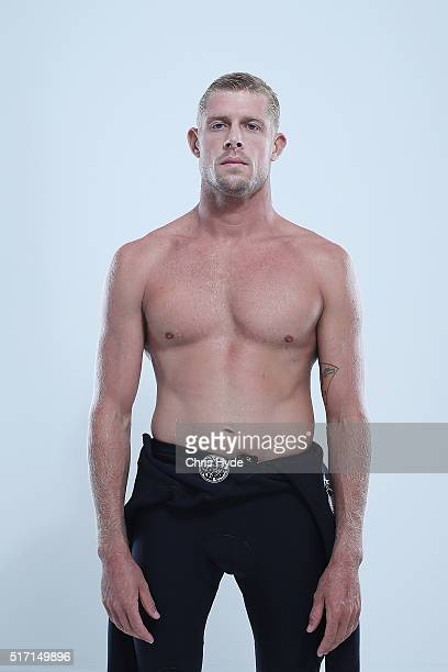 Australian surfer Mick Fanning poses on March 23 2016 in Gold Coast Australia