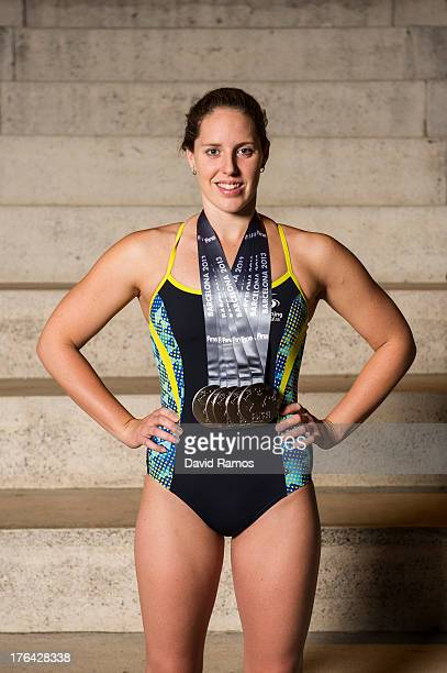 Australian swimmer Alicia Coutts poses during a portrait session following the 15th FINA World Championships on August 5 2013 in Barcelona Spain