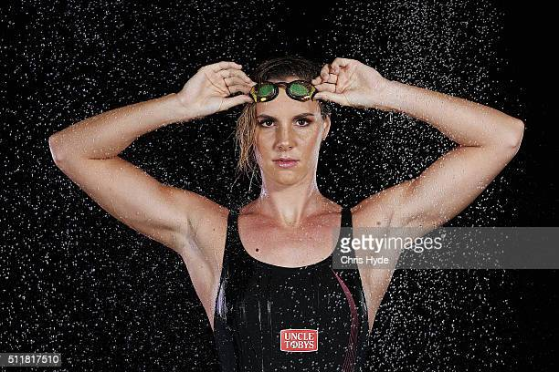 Australian Swimmer Bronte Campbell poses during a portrait session on February 23 2016 in Brisbane Australia