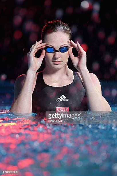 Australian swimmer Cate Campbell poses during a portrait session on June 19 2013 in Brisbane Australia