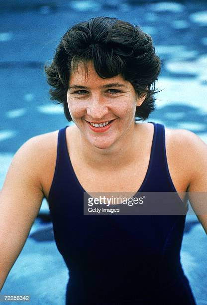 Australian swimmer Dawn Fraser poses of a photo in Sydney Australia Fraser won eight Olympic medals including four golds and six Commonwealth Games...