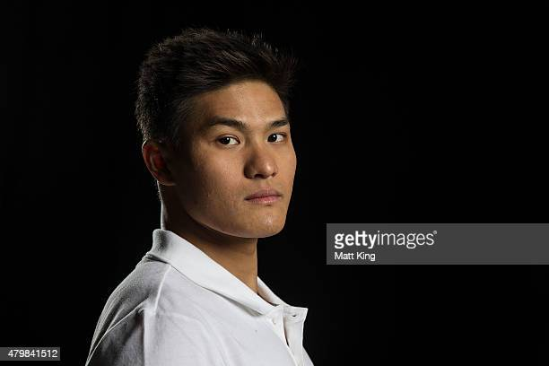 Australian swimmer Kenneth To poses during a portrait session at Australian Technology Park on July 8 2015 in Sydney Australia