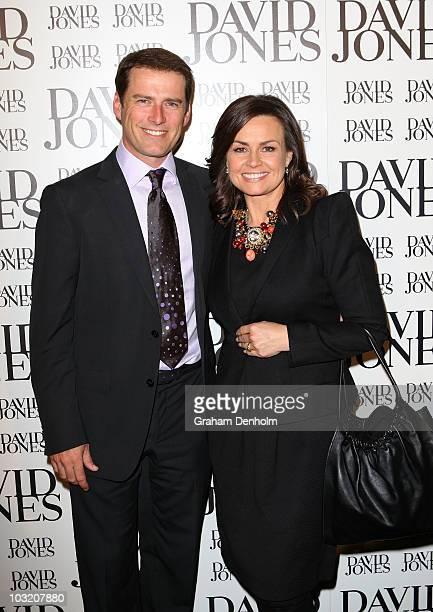 Australian television personalities Karl Stefanovic and Lisa Wilkinson arrive at the David Jones Spring/Summer 2010 Season Launch at David Jones...