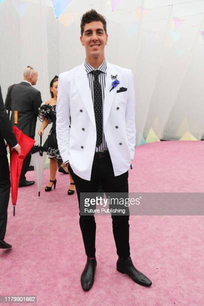 "Australian tennis player Athanasios ""Thanasi"" Kokkinakis at Derby Day at the 2019 Melbourne Cup Carnival at Flemington Racecourse in Melbourne..."