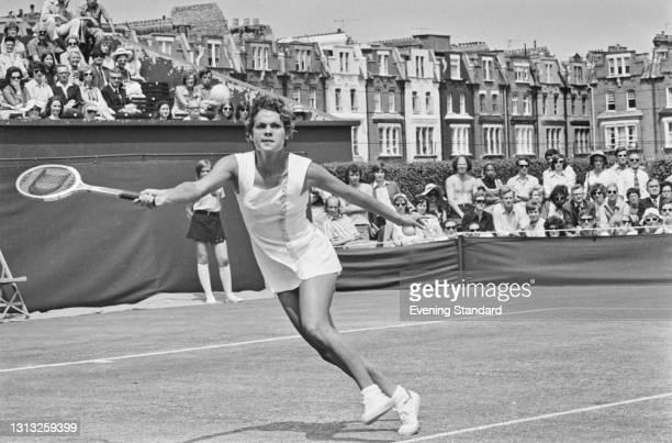 Australian tennis player Evonne Goolagong at the Queen's Club Championships in London, UK, 23rd June 1973.