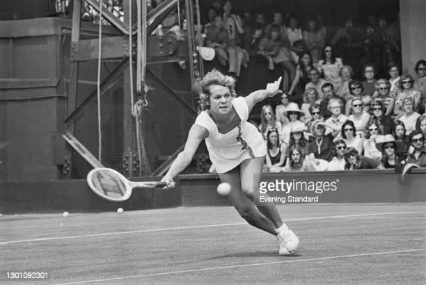 Australian tennis player Evonne Goolagong at the Wimbledon Championships in London, UK, 27th June 1973.