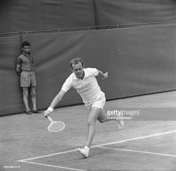 Australian tennis player Ken Fletcher during the 1965 Wimbledon Championships in London, UK, June 1965. He was knocked out by Roy Emerson in the...