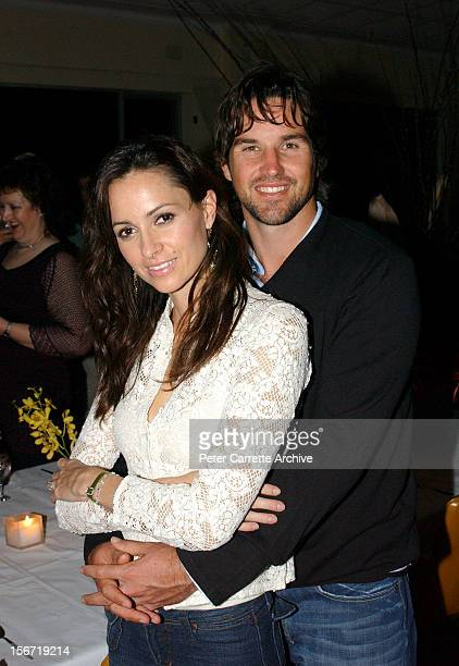 Australian tennis player Pat Rafter and his partner Lara Feltham at the 60th birthday celebrations for Australian actor Michael Caton at the Clovelly...