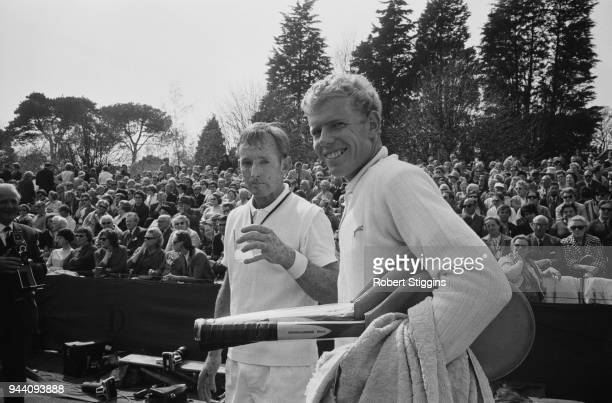 Australian tennis player Rod Laver and English tennis player Mark Cox at Bournmouth UK 27th April 1968