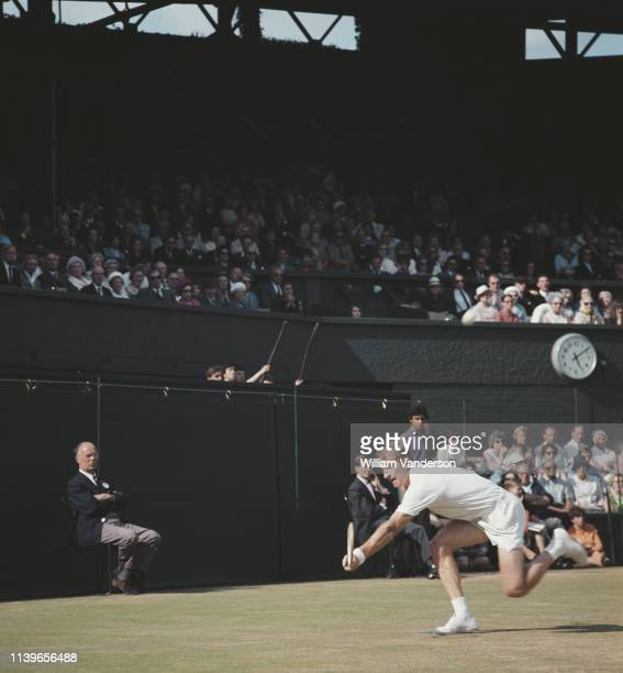 Australian tennis player Rod Laver at the Wimbledon championships in London, July 1968.