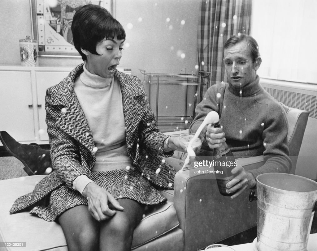 Australian tennis player Rod Laver with his wife, circa 1975.