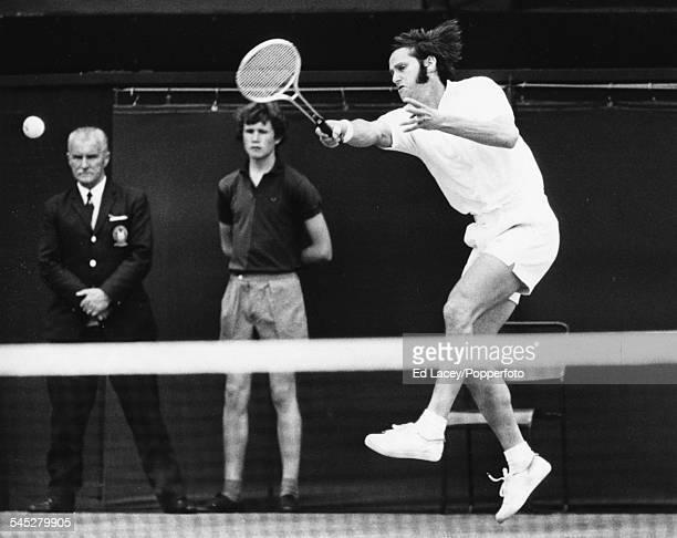 Australian tennis player Roy Emerson competing at All England Wimbledon Tennis Championships London June 26th 1971