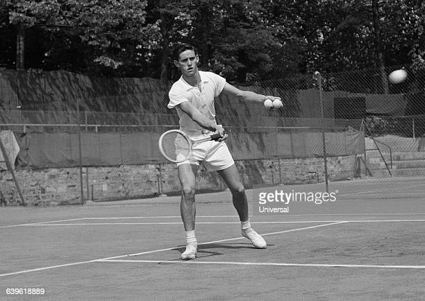 Australian tennis player Roy Emerson during the 1954 French Internationals of Roland Garros