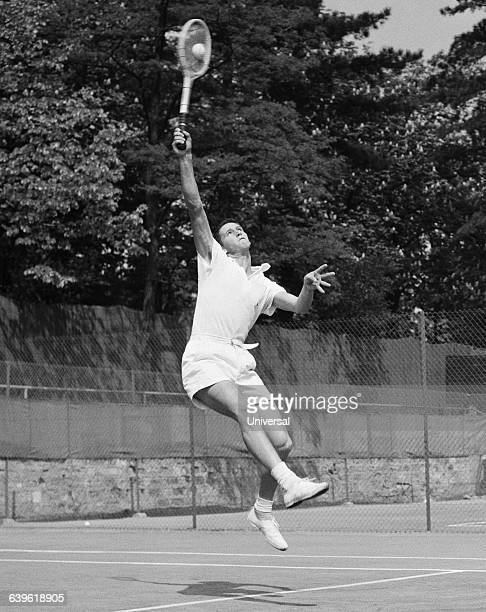 Australian tennis player Roy Emerson during the 1954 French Internationals of Roland Garros.