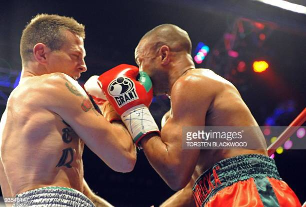 Australian titleholder Danny Green lands the final punch on fourdivision world champion Roy Jones Jnr of the US during their IBO cruiserweight World...