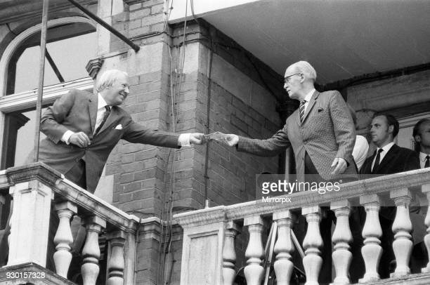 Australian tour of Great Britain for the Ashes England v Australia Fifth test at the Oval Prime Minister Edward Heath signs autographs for fans...