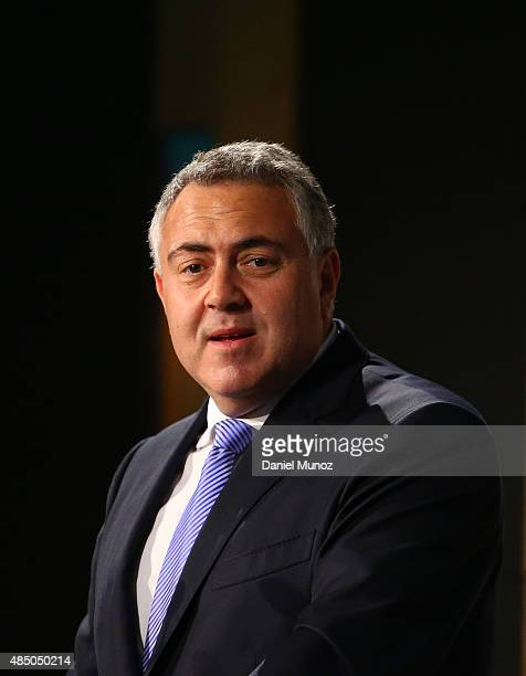 Australian Treasurer Joe Hockey delivers a speech at Westin Hotel on August 24, 2015 in Sydney, Australia. The Coalition Government has announced it...