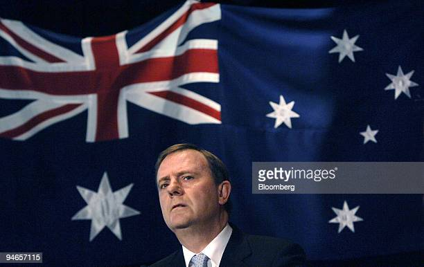 Australian Treasurer Peter Costello reacts during his speech at an Australian business luncheon in Sydney Australia Thursday 20 April 2006 Costello...