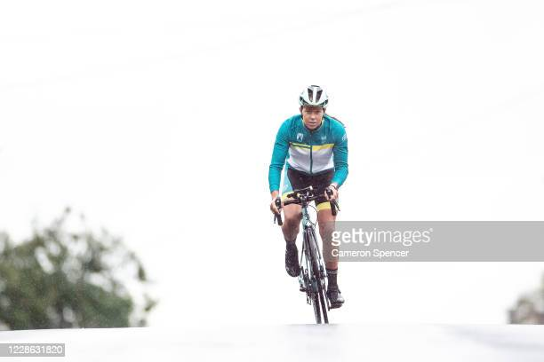 Australian triathlete Emma Jeffcoat trains at Collaroy Beach on May 29 2020 in Sydney Australia Jeffcoat usually spends half the year training and...