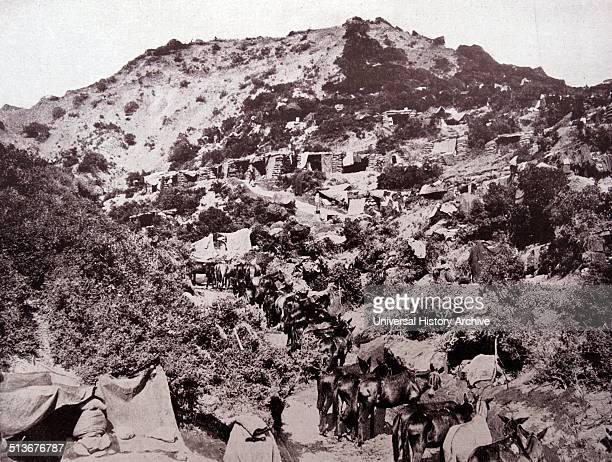 Australian troop positions at the Battle of Gallipoli