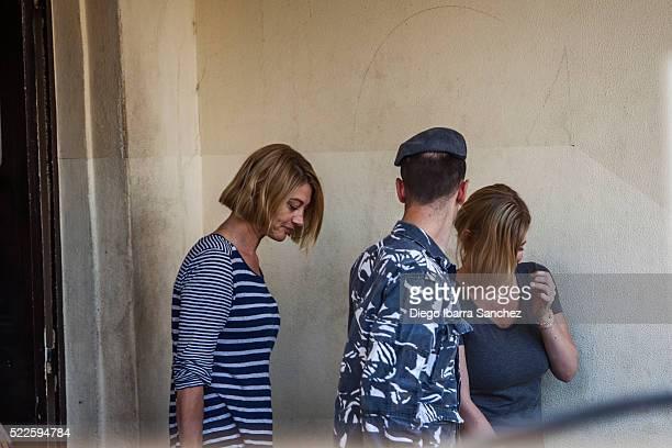 Australian TV presenter Tara Brown left and Australian mother Sally Faulkner right leave a women's prison in the Beirut southeastern suburb of Baabda...