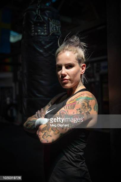 Australian UFC veteran and bare knuckle fighter Bec Rawlings poses for portraits at City of Angels Boxing Club on August 16 2018 in Los Angeles...
