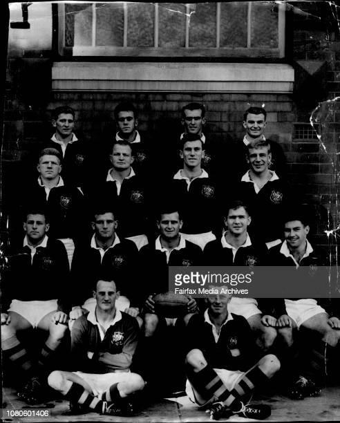 Australian Union team V Lions 2nd testLeft to Right Back Row A Morton R Kay L Diett K Donald Middle K Ellis A Miller J Carrou J Thronett Front P Dunn...